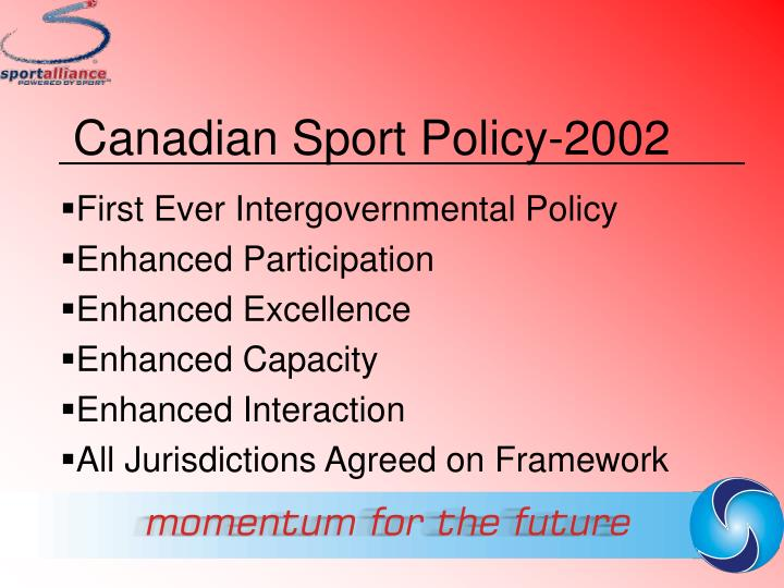 Canadian Sport Policy-2002