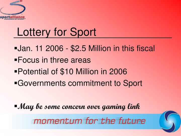 Lottery for Sport