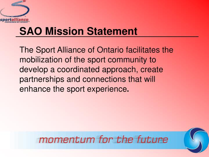SAO Mission Statement