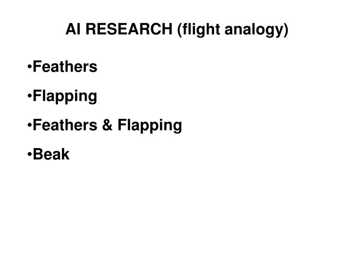 AI RESEARCH (flight analogy)