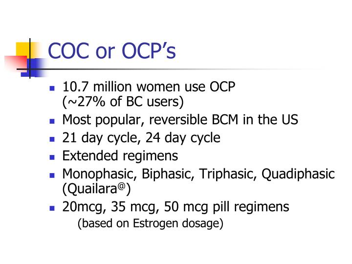 COC or OCP's