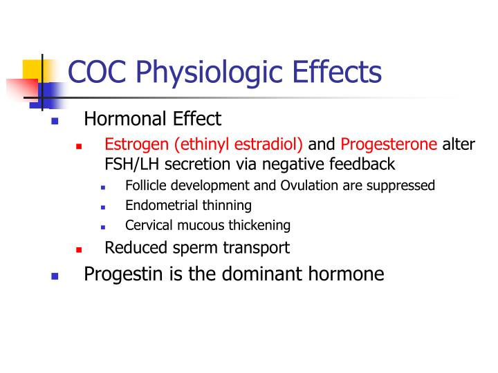 COC Physiologic Effects