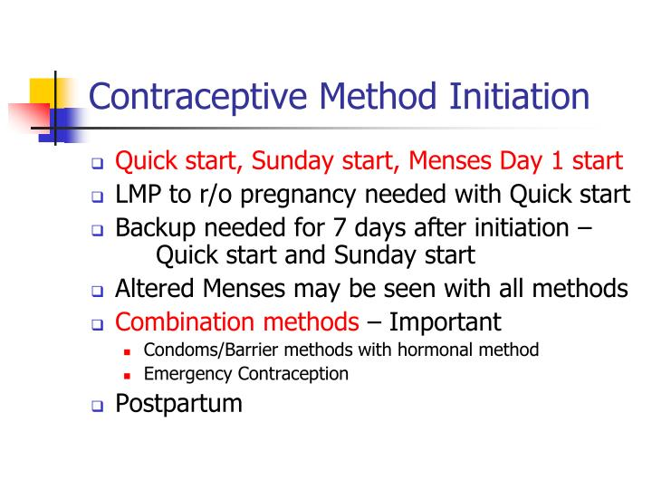 Contraceptive Method Initiation
