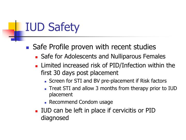 IUD Safety