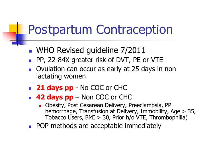 Postpartum Contraception