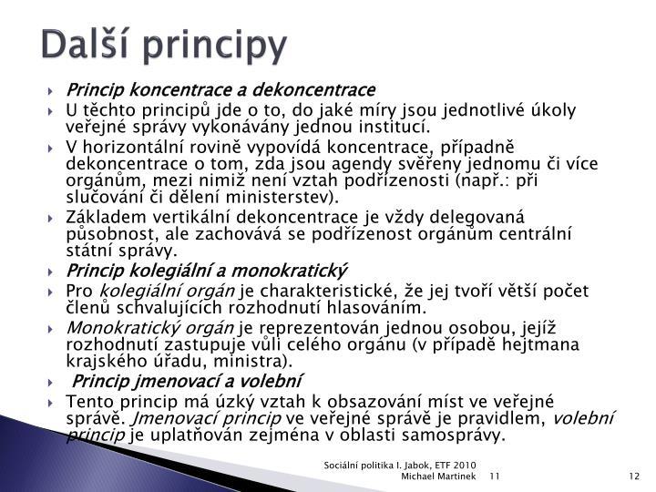 Další principy