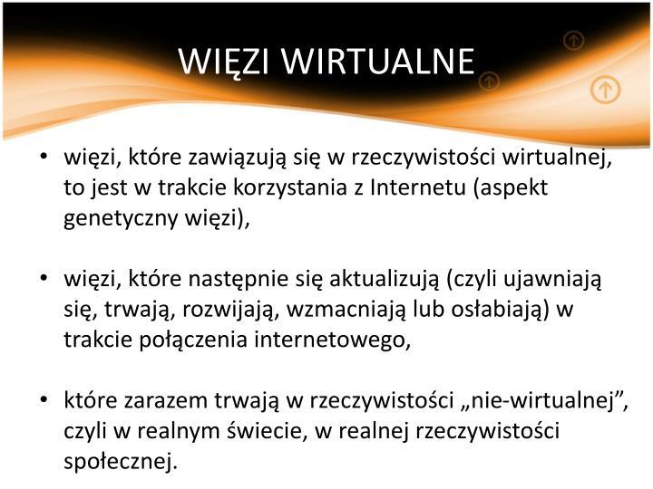 WIĘZI WIRTUALNE