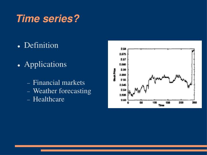 Time series?