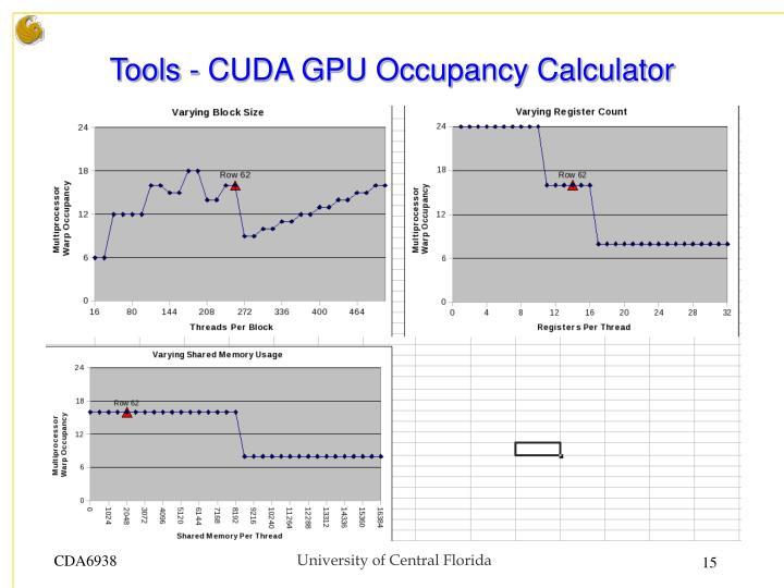 Tools - CUDA GPU Occupancy Calculator