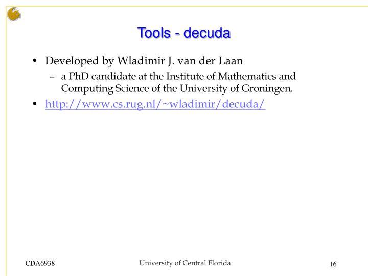 Tools - decuda