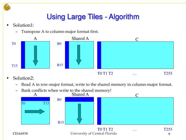 Using Large Tiles - Algorithm