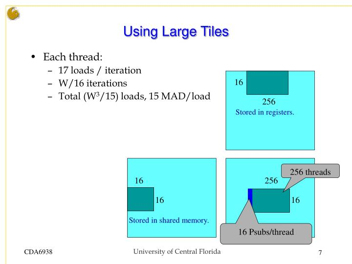 Using Large Tiles