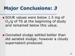 major conclusions 3