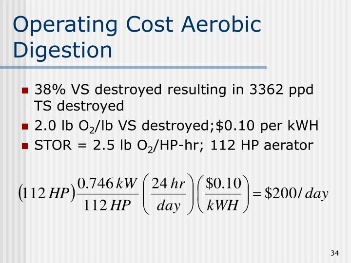 Operating Cost Aerobic Digestion
