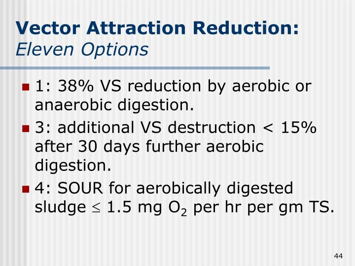 Vector Attraction Reduction: