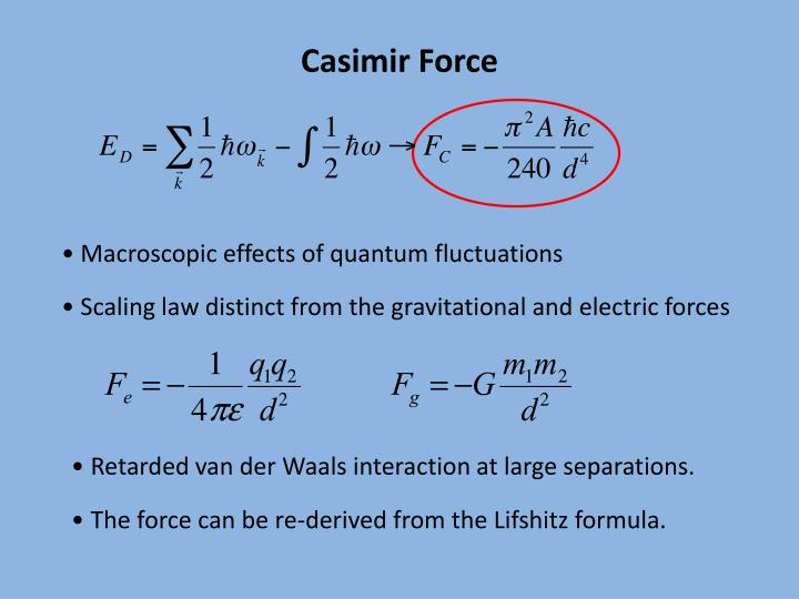 Casimir Force