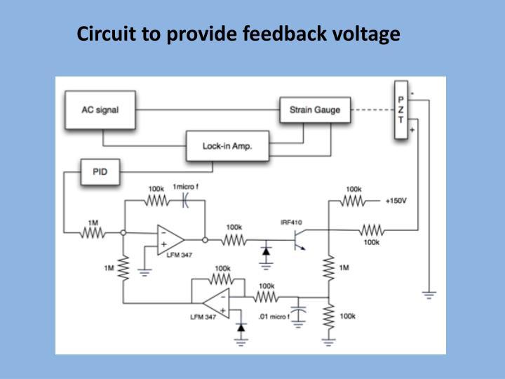 Circuit to provide feedback voltage
