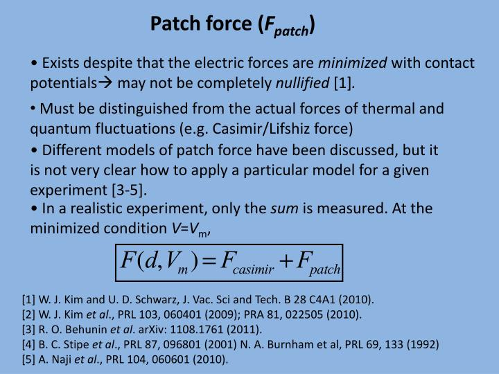 Patch force (