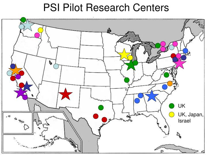 PSI Pilot Research Centers