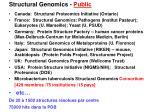 structural genomics public
