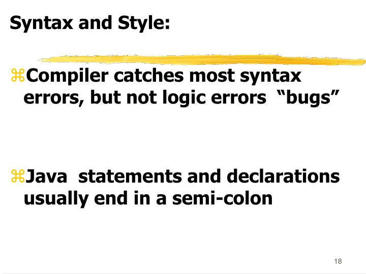 Syntax and Style: