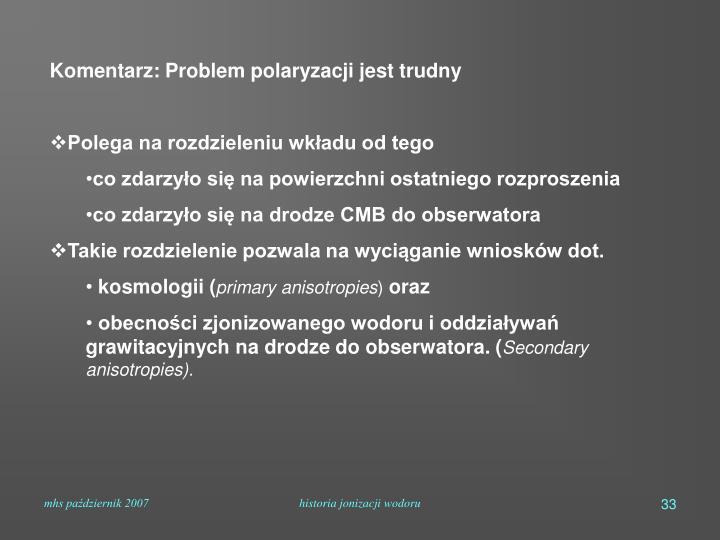 Komentarz: Problem polaryzacji jest trudny