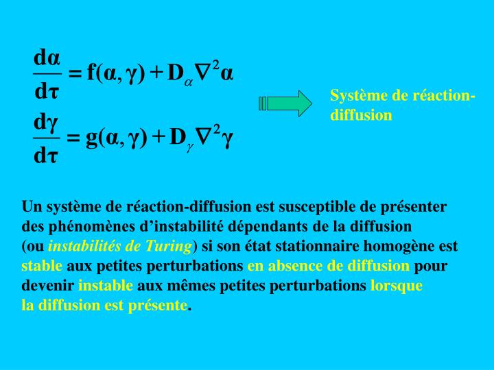 Système de réaction-diffusion