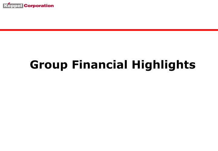 Group financial highlights