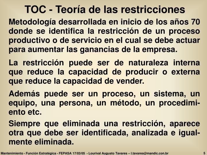 TOC - Teoría de las restricciones