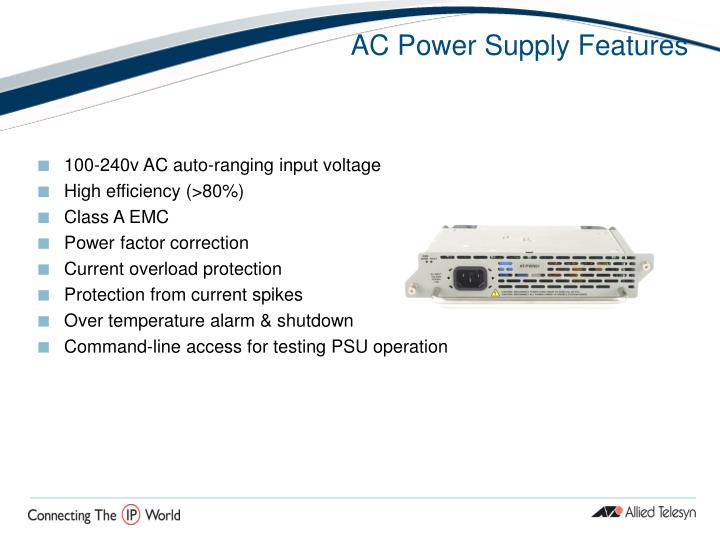 AC Power Supply Features