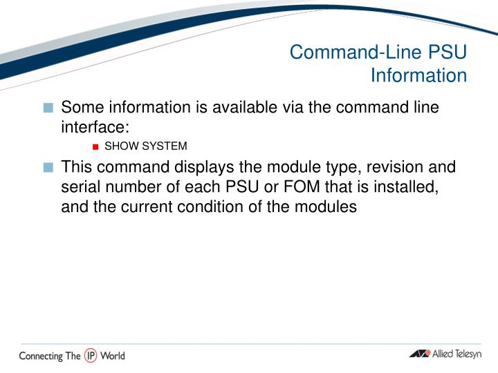 Command-Line PSU Information