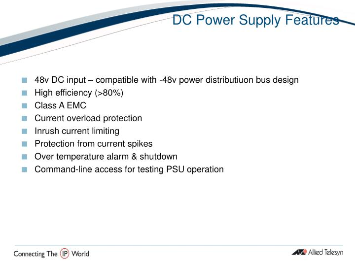 DC Power Supply Features