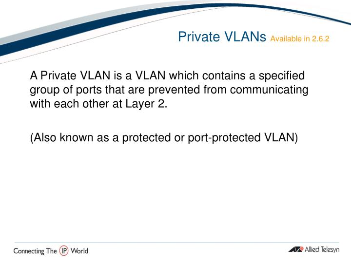Private VLANs