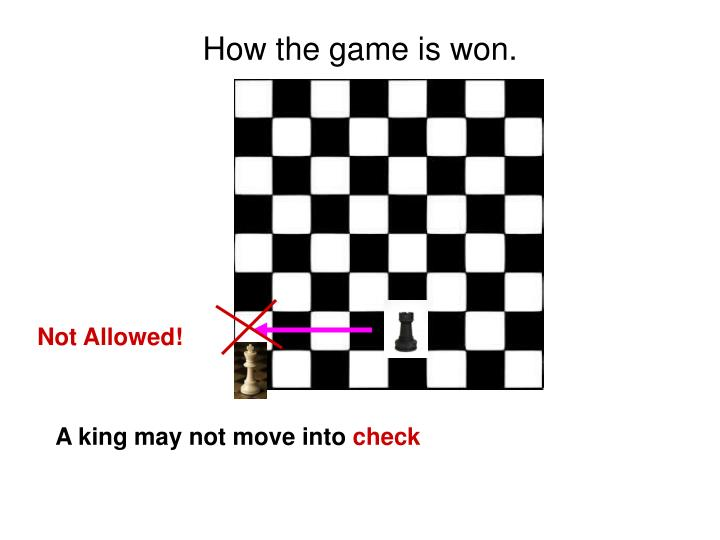 How the game is won.