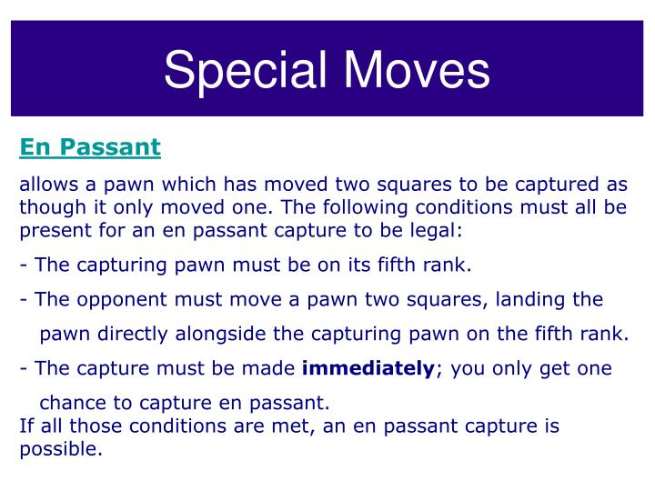 Special Moves