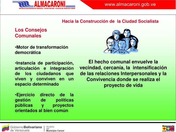 Hacia la Construcción de  la Ciudad Socialista