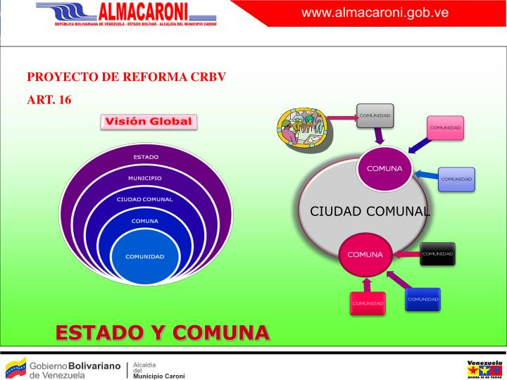 PROYECTO DE REFORMA CRBV