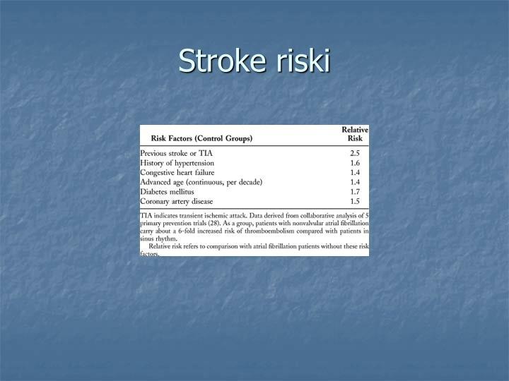 Stroke riski
