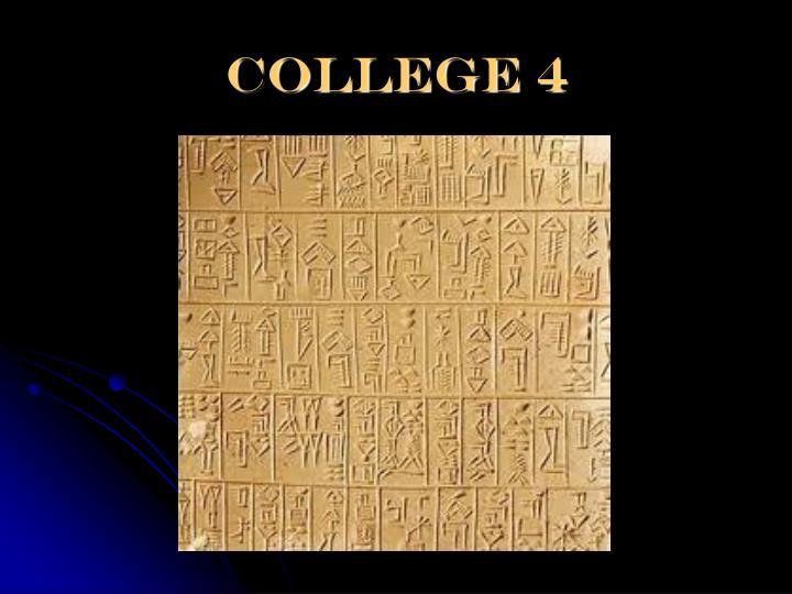 College 4