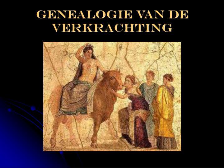 Genealogie van de verkrachting