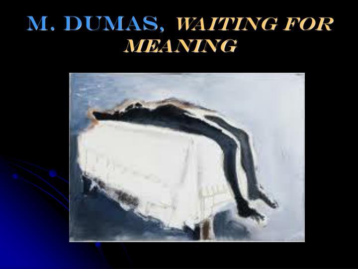 m. Dumas,