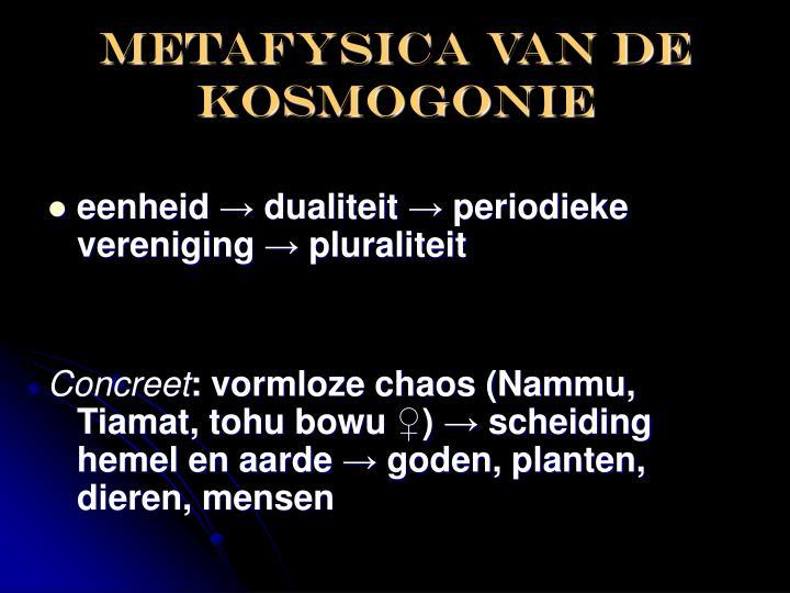 Metafysica van de kosmogonie