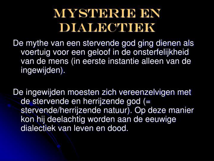 Mysterie en dialectiek