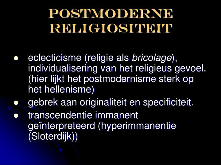 Postmoderne religiositeit