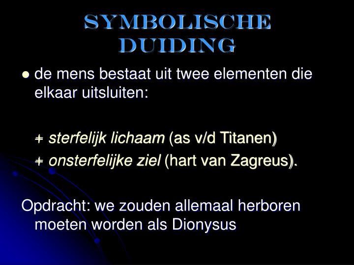 Symbolische duiding