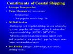constituents of coastal shipping