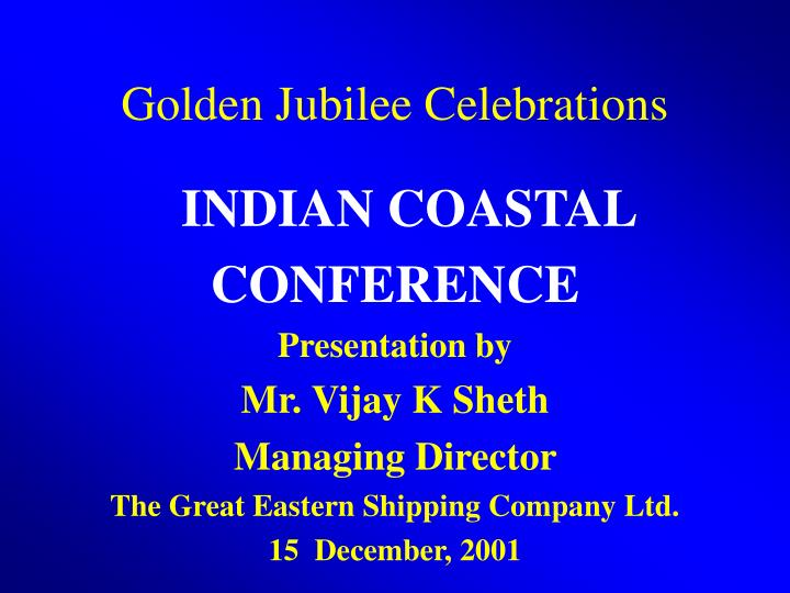 Golden jubilee celebrations