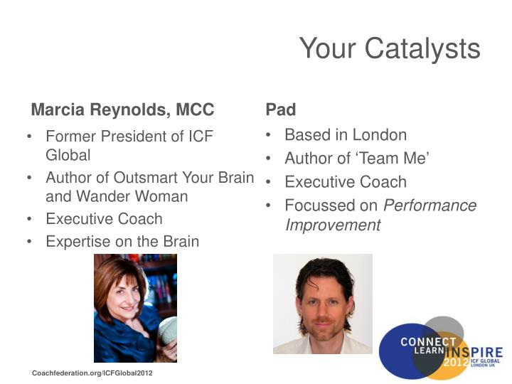 Your catalysts