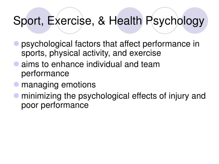 Sport exercise health psychology1