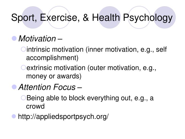 Sport, Exercise, & Health Psychology